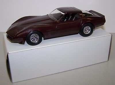 1982 Chevrolet C3 Corvette Coupe Dark Claret Red Dealer Promo Car Plastic 1/64