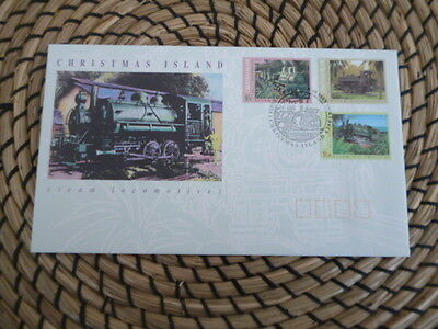 Christmas Island 1994 fdc steam locomotives  full set of stamps