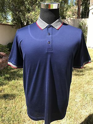 Kiton Polo Shirt Ultra Luxury Navy Blue Button Up Polo Shirt Sz L MAKE AN OFFER