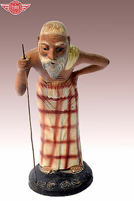 18c Genuine Old Rare Decorative Collectible Old Man Figure/Statue. i43-1