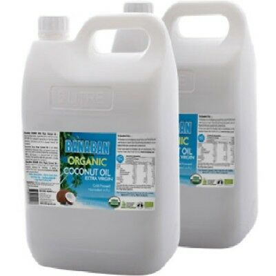 2 x 5 Litre BANABAN ORGANIC Extra Virgin Coconut Oil 5 litre (FREE SHIPPING)