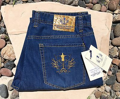 Scissor Scriptor Jeans Men's Ultra Luxury Jeans Gold Edition Sz 34 MAKE AN OFFER