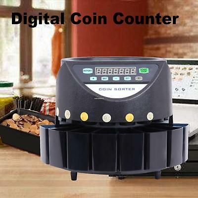 Digital Coin Counter Led Display Automatic Electronic Coin Money Sorter Machine