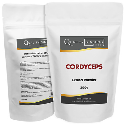 CORDYCEPS - 10:1 Extract Powder - Strength & Quality