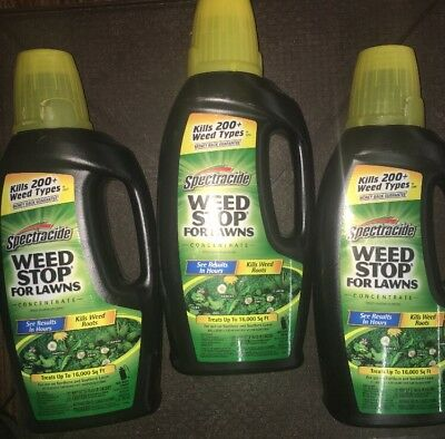 """3-Pack Spectracide 32oz """"Weed Stop for Lawns"""" Concentrate **Free Fast Shipping**"""