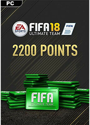 FIFA 18 2200 Ultimate Team Points EA Origin CD Key PC Download Code [DE/EU] NEU