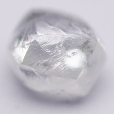 0.25 Carat Natürlich Rohdiamant Natural Rough Raw Diamond White Mackle