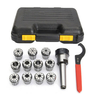 11pcs ER32 Spring Collets Set 3-18mm + MT2-ER32 Collet Chuck Taper Holder+Wrench