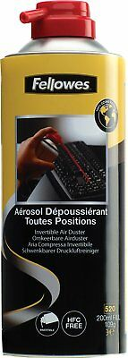 Fellowes Performance HFC Free Invertible Air Duster 520ml Can / 200ml Fill