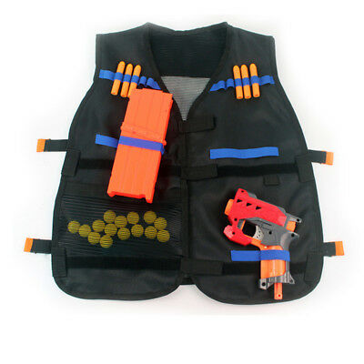 Foam Bullet Tactical Vest Kids Children Combat Assault Army Military Hunting rm