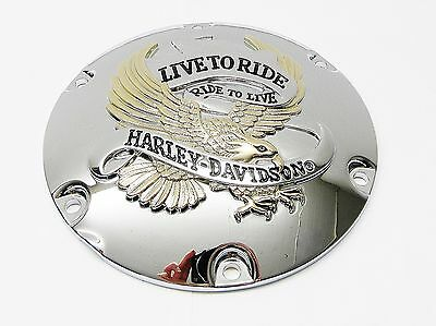 Original Harley Davidson Derby Cover Kupplungsdeckel Live To Ride 25127-04A Xl