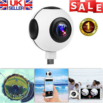 360° HD Dual Fisheye Lens VR Real Time Panorama Camera Camcorder for Android UK