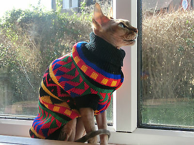 COLOURS winter sweater Sphynx cat clothes sweater jumper Katzenbekleidung pet