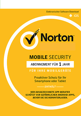 Norton Mobile Internet Security  - Android - iOS - 1 User - 1 Jahr / KEY