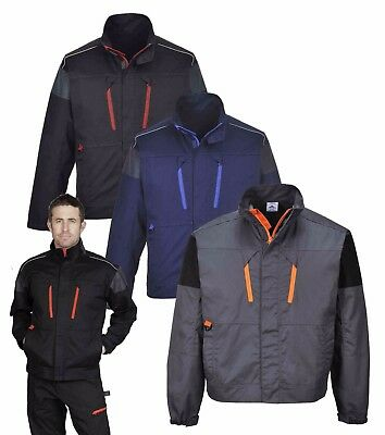 Portwest TX60 Tagus Mens Work Jacket Polycotton Contrast Piping Outdoor Workwear