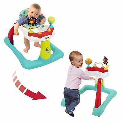 2-in-1 Activity Baby Walker Seated Walk Behind Position Toddler Toy Learning