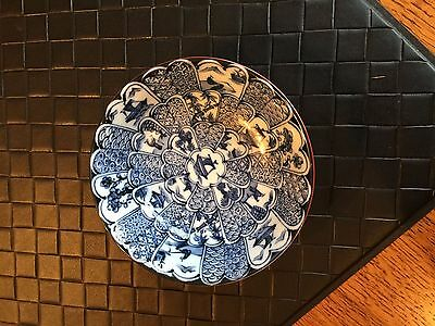 Vintage Small Blue & White Asian Design Porcelain Bowl