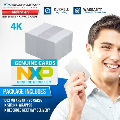 100 Genuine Philips/NXP MIFARE 4K Contactless ID Cards • Free UK Delivery