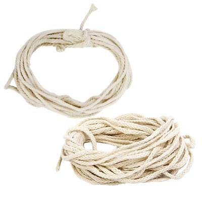 2pcs Natural Cotton Twisted Rope Handmade Decoration DIY Craft Making 10/30m