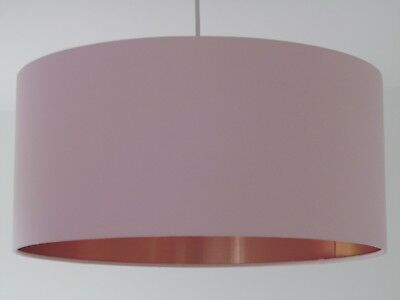 Large Wide and Shallow Lampshade Light shade Brush Copper in Choice of Colours