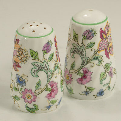 Minton Haddon Hall Fluted Cruet Salt & Pepper Made in England Firsts