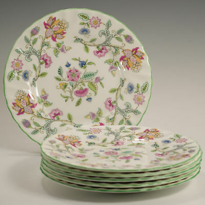 Minton Haddon Hall Six Fluted Side / Tea Plates Made in England Firsts 3 availab