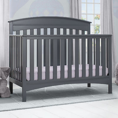 Delta Children Bennington Elite Arch 4-in-1 Convertible Crib - Charcoal Grey