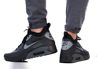 competitive price 0e7ab 6f48f NIKE AIR MAX 90 ULTRA MID WINTER Herren Black Sneaker Turnschuhe Top  924458-002