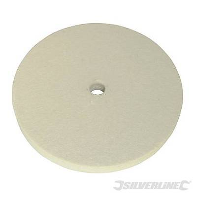 Silverline Felt Buffing Wheel 150mm - Polishing Finishing Honing DIY - 105898
