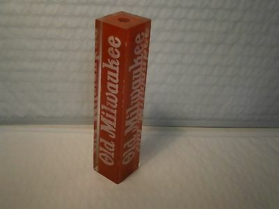 Old Milwaukee Beer Pull Handle Vintage Keg Tap  Bar Pub Mancave Inn Lucite