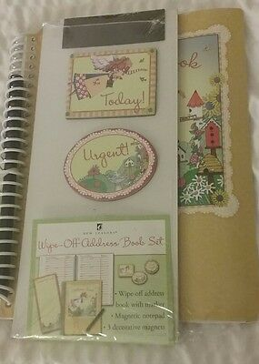 New SEALED Seasons Wipe Off Dry Erase Address Book, magnetic notepad & 3 magnets