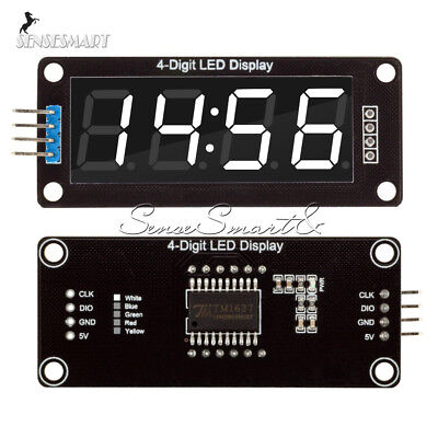 0.56'' TM1637 4Bit Digital LED 7 Segment Clock Tube Display For Arduino White