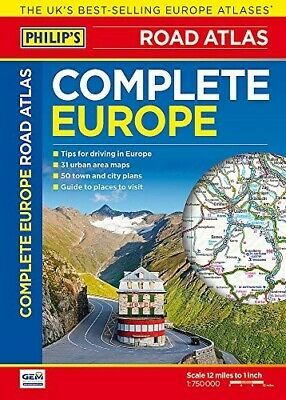 Philip's Complete Road Atlas Europe 2017 - New Book Philips
