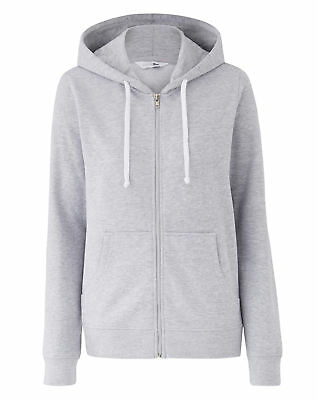 New Womens Zip Through Hoody