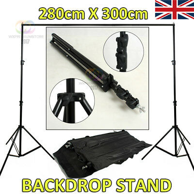 Photo Studio 2.8x3m Background Backdrop Support Stand with Free Carrying Case UK