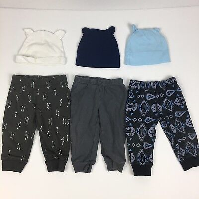 Lot Of Baby Boy Pants Sweats Hats 6-9 Mos Carter's Child Of Mine
