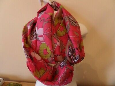 Scarf With Magnetic Clasp/fastener -Silk+ Polyester Blend