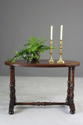 Antique Victorian Oval Occasional Side Dressing Hall Console Table