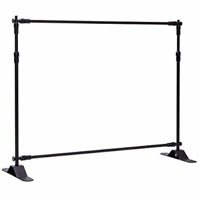 Giantex 8'x8' Banner Stand Adjustable Backdrop Telescopic Trade Show Display ...
