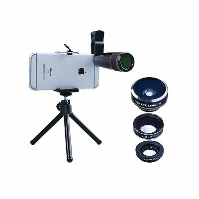 Apexel 4 in 1 Camera Lens 12x Telephoto Lens/Fisheye/ Wide Angle + Macro Lens...