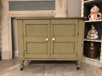 Antique Wood Kitchen Cabinet Pantry Cupboard