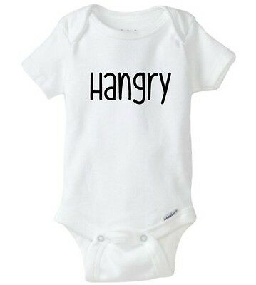 Hangry Hashtag, Funny Baby Gerber Onesie