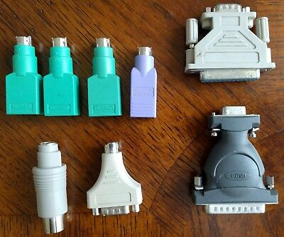 USB to PS2 Adapter Serial 25 pins to 9 Male and female 9pins to PS2 Lot