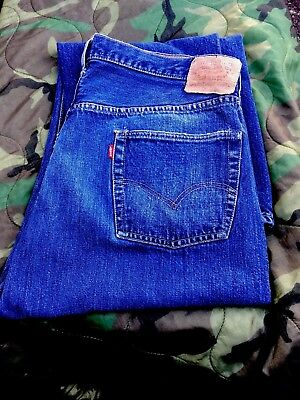 Vintage 60's Levi's 501 Selvedge Big E Denim Blue Jeans