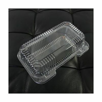 Dart Clear Hinged Lid Plastic Container 9 x 5 3/8 x 3 1/2 (Pack of 50) - NEW