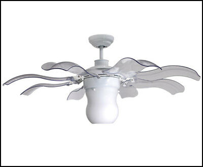 Magnificent Vento Fiore 42 In White Retractable Ceiling Fan Home Interior And Landscaping Mentranervesignezvosmurscom