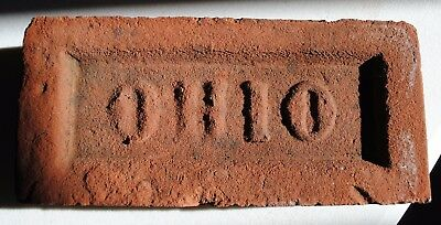 Old Collectible Vintage Antique Authentic Ohio Brick Buckeye Country Landscape