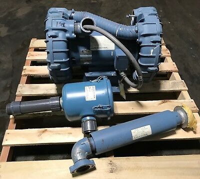 EG&G Rotron DRS7X72 Vacuum Pump Regenerative Blower 7 1/2 HP With Extras 036085