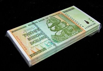20,000,000,000 Dollars x 5 Pcs 2008 AA//AB Circulated Zimbabwe 20 Billion