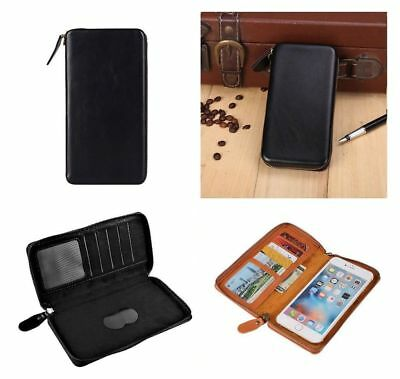 for HUAWEI ASCEND G330D (HUAWEI U8825D) Black Executive Wallet Pouch Case wit...
